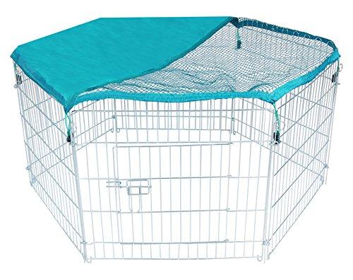 Woltu htz2029m6+ht2029 pollaio recinto in metallo con copertura protezione parasole per pollo cane conigli gabbia animali giardino esterno 6 pezzi 60x63cm