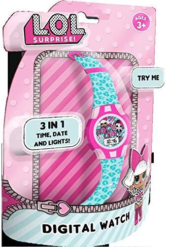 LOL Surprise 1 Reloj Deportivo 3 Clamshell 3D (DI2199LOL), Multicolor (Kids Licensing