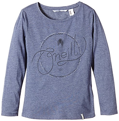 oneill-lg-reflection-t-shirt-manches-longues-fille-crown-blue-fr-l-taille-fabricant-140