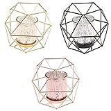 non-brand Sharplace 3 Pedazos 3D Lámpara de Candelabro de Hierro Forjado Hueco Estilo Nórdico Ins Decoración Hogar