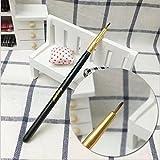 Boyasing Augenbrauenbürste mit Doppeltem Kopf, aus Kunststoff, Edelstahl, tragbar, 1 Stück Nr.1