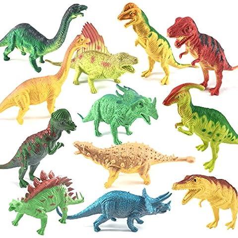 Dinosaur Toys, 12 Pcs Assorted Plastic Dinosaur Toys Set, Realistic