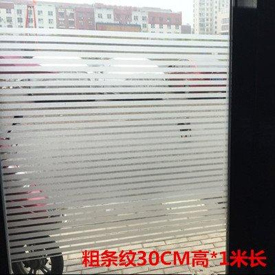 XI.W.H Matte elektrostatische Zellophan Folie nicht-gel Schneiden gestreifte Film durchsichtige Büro Schiebetür Badezimmer Fenster Aufkleber, dicke Streifen 30 cm hoch * 1 m