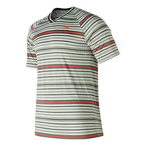 New Balance Herren Tournament V-Neck Men T-Shirts, Mint, L -