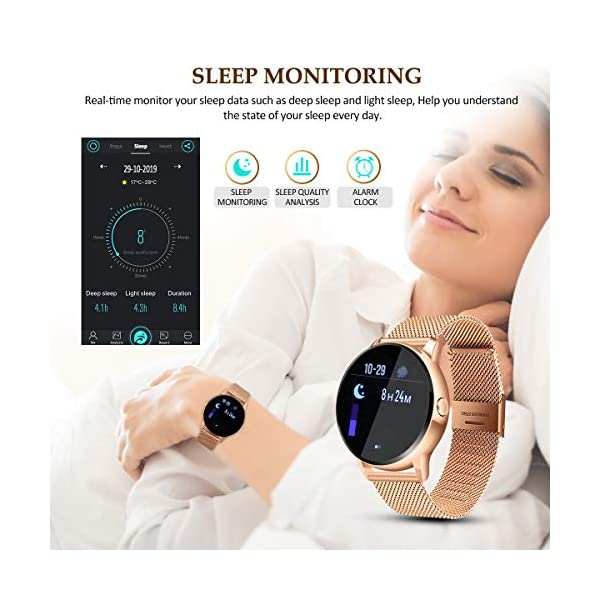 EIVOTOR Smart Watch Sport Fitness Activity Tracker Pulsera Pantalla conectada Touch Podometer Climate Alarm Clock para… 5