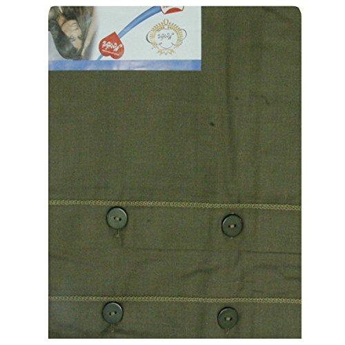 Russo tessuti coppia federe guanciali con bottoni cuscini tinta unita in cotone 52 x 82 cm-verde scuro