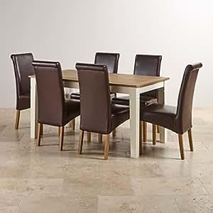 Oak Furniture Land Shutter Brushed Oak Dining Table With