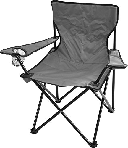 Robuster Camping Outdoor Angler Klappstuhl Outdoor Farbe Grau mit Armlehne