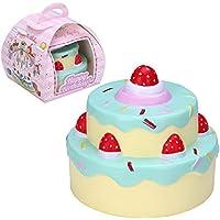 """VLAMPO Squishy stress Giocattoli Squishies lenta molle Rising 2 strati di fragole torta di compleanno 4.3 """"1 Pezzo(verde)"""