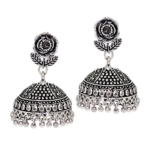 Jaipur-Mart-Jhumki-Earrings-for-Women-SilverGSE538SLV