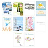 Set 10 Premium Kommunionskarten mit Umschlag - Glückwunschkarte zur Kommunion - Kommunionskarte - Kartenset (Klappkarten mit Briefumschlag)