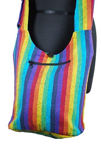 Rainbow Colours Hippy Bag