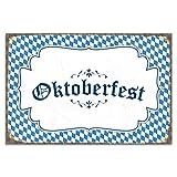 Cuadros Lifestyle Wanddekoration Blechschild 'Oktoberfest'/Wiesn/Nostalgic Art/Vintage, Größe:ca. 45 x 30 cm