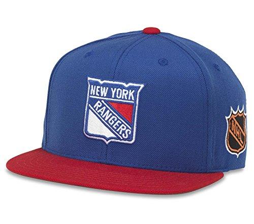 American Nadel NHL Blockhead Verstellbar Snapback Hat, Herren, New York Rangers Twill Mesh Back Cap