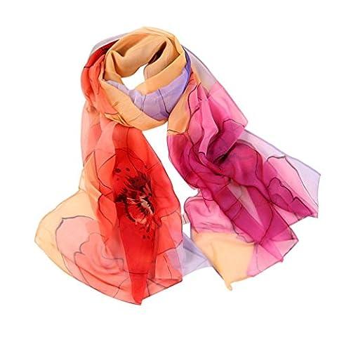 Womens Scarf,Clode® Fashion Women Long Soft Wrap scarf Ladies Flower