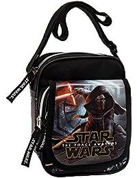 Star Wars The Force Awakens Bolso Bandolera, Color Negro, 2.85 Litros