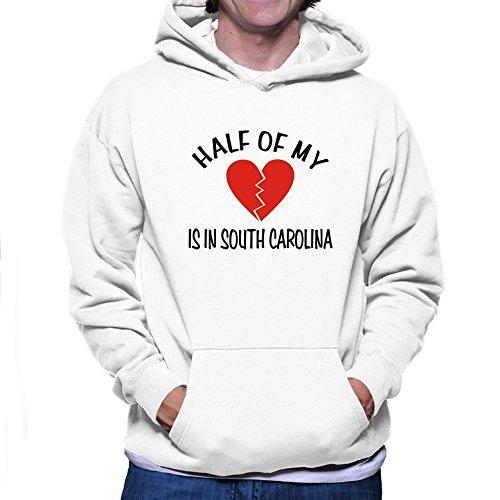 Teeburon Half of My South Carolina Hoodie (Carolina-sweatshirt South Weiß)