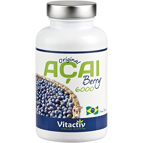 Acai Berry 6000 Kapseln - Das Original für die Acai Beeren Diät - Bekannt aus Pro7 GALILEO (120 Acai Kapseln)