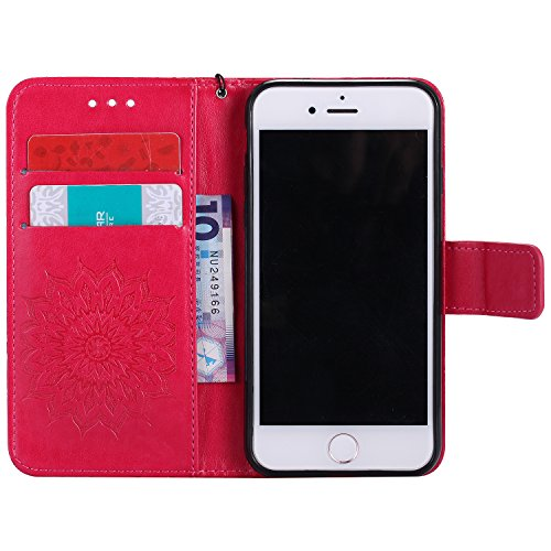 Coque PU iPhone 8 / 7 Case Wallet Phone Stand Cover with Credit Card Slots Flip Protective Case For Apple iPhone 8 / 7 -photo Frame Keychain (*/8) 1