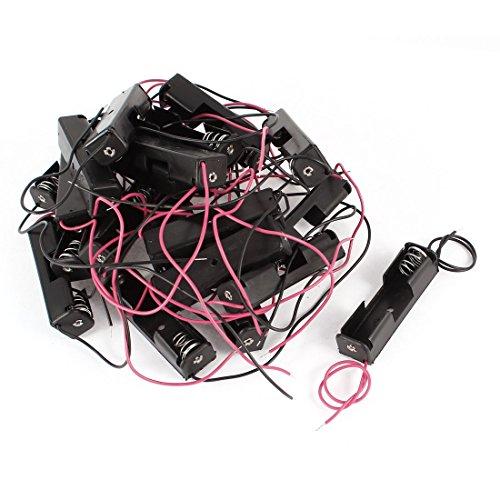sourcing map Lot de 20 Crochets Noir/Rouge 2 Fils 1 x 1,5 V AA-Boîte de Rangement pour Batterie