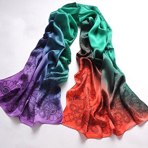 serviette de plage Écharpes en soie pour femme Écharpe solaire Écharpe sauvage à double usage ( Couleur : #8 ) #5