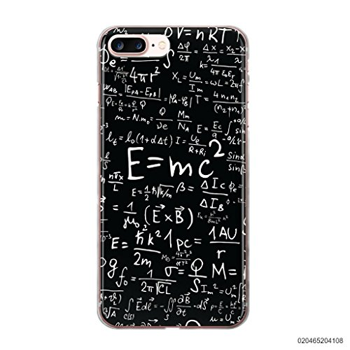 blitzversand Handyhülle Natur Umwelt Nature kompatibel für iPhone 7/8 Einstein Formel E=mc² Schutz Hülle Case Bumper transparent M16