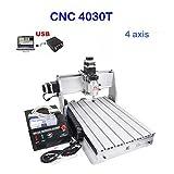 4030T 4 Achsigen Graviermaschine CNC Fräsmaschine Fräse Graviermaschine 400mm x 300mm 3 Achsigen Präzisere Steuerung des Graviervorgangs (4030T 4 Achsigen)