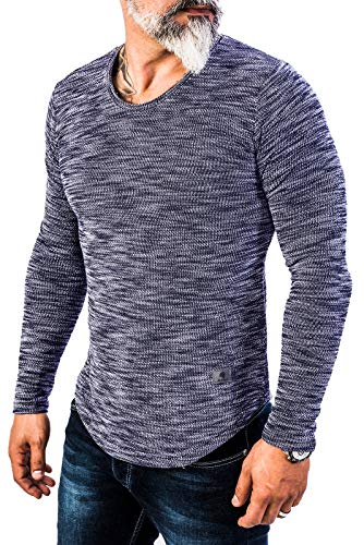 Rock Creek Herren Longsleeve Shirt Langarm Hoodie Sweatshirt Kapuzenpullover Langarmshirt Herrenpulli Street Style H-144 Navy XXL