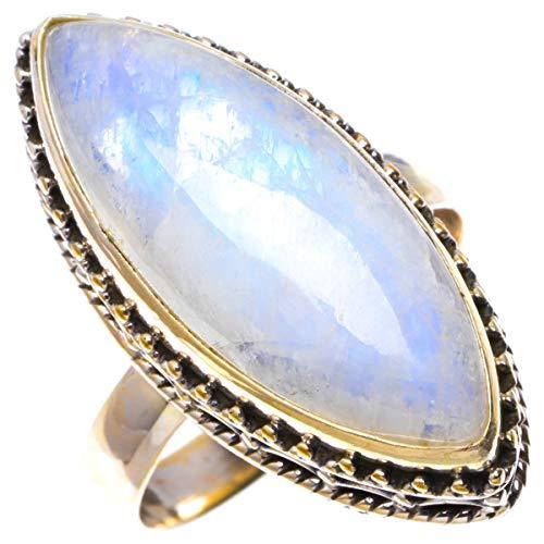 925er Sterling Silber Moonstone Einzigartig Handgefertigt Ringe 19 Numerous Colors B1151