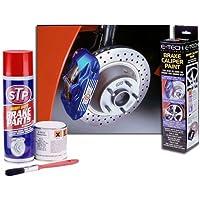 CKS ÉTRIER DE FREIN peinture Rotors Drums coussinets Chaussures Argent Chrome bcp-silver