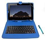 Stand de support bleu avec clavier AZERTY 7 POUCES intégré pour QILIVE Tablette...