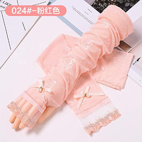 creme Ärmel Kinder Sommer UV Ice Silk atmungsaktive Handschuhe Outdoor Driving dünne Lange Spitze Hand Armband Sleeve @ XT3 ()