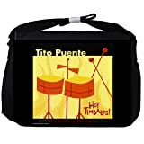 Face-On Tito Puente - Hot Timbales Official Album Cover - Black Unisex Messenger Bag - Large
