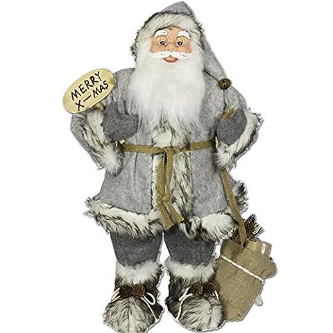 Weihnachtsmann Weihnachtsmänner von JEMIDI Nikolaus Nikoläuse Figur 30cm. 60cm oder 80cm Santa Klaus Deko Nikolaus 60cm Weihnachtsmann