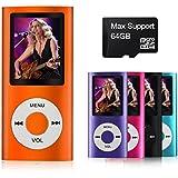 mymahdi–Digital, compacto y portátil MP3/MP4reproductor (Max apoyo 64GB Micro SD Card) con visor de fotos, e-book lector y grabadora de voz y radio FM VIDEO película en color naranja