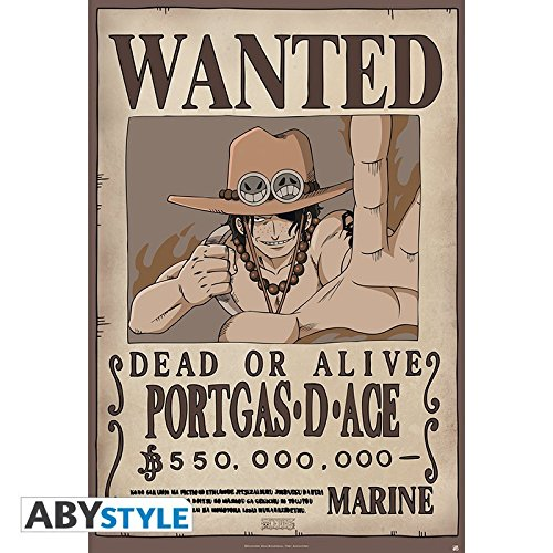 Poster One Piece Wanted Ace - 91.5 x 61 cm - ABYstyle