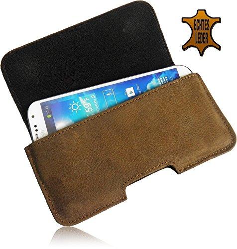 Matador Gürteltasche Quertasche mit Gürtelschlaufe für Apple iPhone 7 Plus verdeckter Magnetverschluss schutztasche (Natur Schwarz) Tabacco Braun