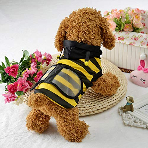 FORHOME Haustier Hund Kleidung Halloween Hoodie Phantasie Katze Biene Kostüm Welpen Mantel Cosplay Bekleidung, (Hunde Biene Kostüm Xl)