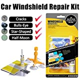 Manelord Auto Windshield Repair Kit, Do it Yourself Windshield Tool with Windshield Repair Resin for Repairing Car Glass Windshield Crack Chips,Bulls-Eye,Spider Web,Star-Shaped,Half-Moon Crescents