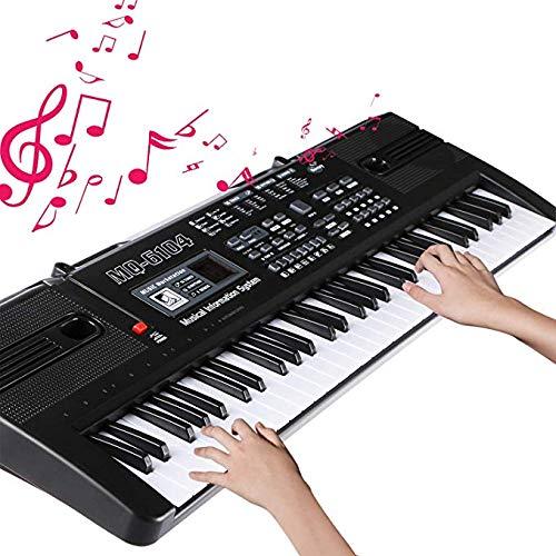 Tastiera da Pianoforte Elettronica Pianoforte a 61 Tasti Multifunzione Pianoforte per Bambini (Nero)