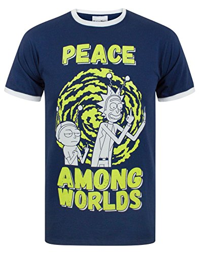 Rick and Morty Peace Among Worlds Men'S T-Shirt (XXL)
