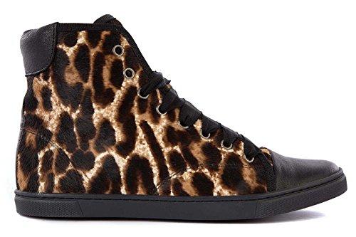 Lanvin scarpe sneakers alte donna in pelle nuove marrone EU 38 AW5BHIMAZP7B