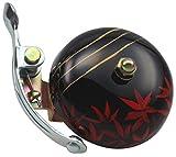 CRANE Bell Co. Fahrradklingel Handpainted Suzu W Steel Band Mount, Kaede, 5.5 cm, CR-HSZSB-KD