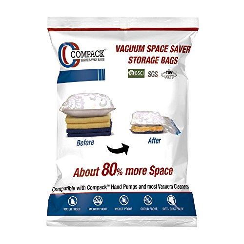 ANSIO Plastic Vacuum Compressed Storage Bag(50x70cm, Multicolour) – Pack of 6