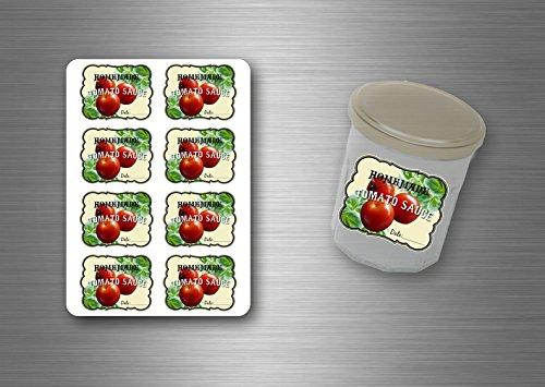 24x aufkleber etiketten geschenkaufkleber tomatensauce pastasauce
