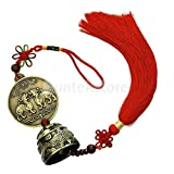 Pixiu Pattern Wind Chime Hanging Bell Chinese Knot Blessing Good Luck Bell