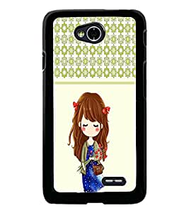 PrintDhaba Cute Doll D-5838 Back Case Cover for LG L90 (Multi-Coloured)
