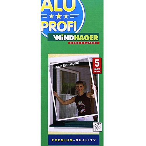 Windhager Insektenschutz Fenster Mückenschutz Alu Profi 80x100cm braun 03706