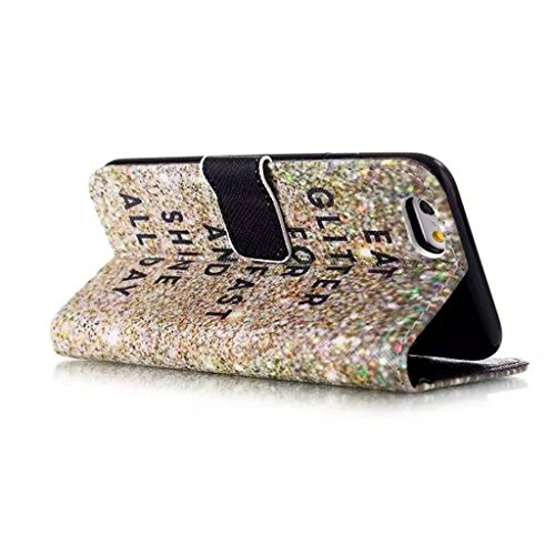 iPhone 6 Coque, iPhone 6 4.7 Coque, Lifeturt [ Sourire ] Coque Dragonne Portefeuille PU Cuir Etui en Cuir Folio Housse, Leather Case Wallet Flip Protective Cover Protector, Etui de Protection PU Cuir  E02-Eat Glitter Breakfast and Shine All Day111543