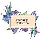 HEITMANN DECO - Rattan-Herz mit Zierblumen und Holz-Blume - perfekte Frühlingsdeko aus Rattan - Tür- und Fensterdeko - 3